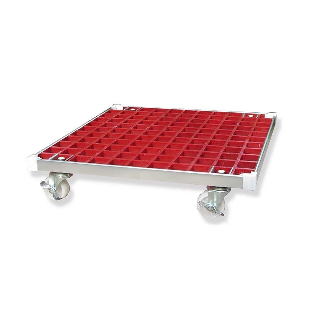 ideal zum Bewegen von Topfpflanzen Rollenhalter Du hui Hochleistungs-FRP-Anlagen-Caddy mit 4 R/ädern Farbe : Rot quadratischer Werkst/änder-Transportwagen mit Industrie-Laufrollen /& Aluminiumkante