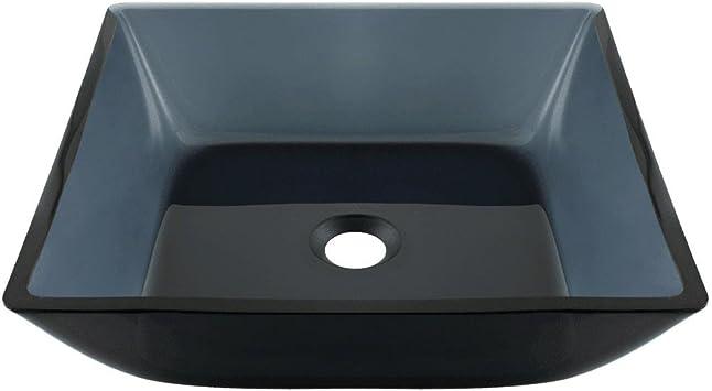 630 Black Square Vessel Bathroom Sink Colored Vessel Sink