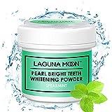 Lagunamoon Teeth Whitening Powder,Pearl Bright Spearmint Gum Powder