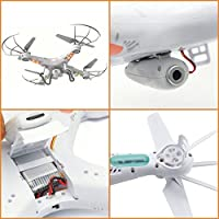 LAMASTON RC Drone with HD Camera, X5C-1 Remote Control Toy Helicopter, Quadcopter Drones for Kids with Headless Mode + 720P Camera + 4GB Memory Card + Bonus Battery by YHH