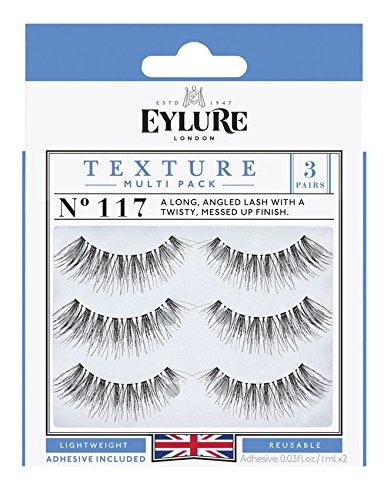 3ca33905ed7 Amazon.com : (Pack of 15 Pairs) Eylure Texture #117 False Eyelashes, Black  Multi-Pack : Beauty