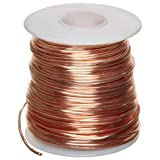 "Bare Copper Wire, Bright, 16 AWG, 0.05"" Diameter, 125' Length (Pack of 1)"