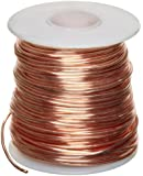 "Bare Copper Wire, Bright, 22 AWG, 0.025"" Diameter, 500' Length (Pack of 1)"