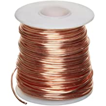 """Bare Copper Wire, Bright, 14 AWG, 0.064"""" Diameter, 80' Length (Pack of 1)"""