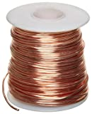 "Bare Copper Wire, Bright, 12 AWG, 0.08"" Diameter, 50' Length (Pack of 1)"
