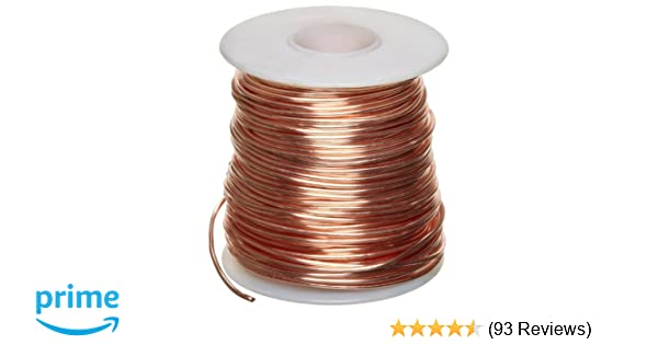 Amazon.com: Bare Copper Wire, Bright, 14 AWG, 0.064\