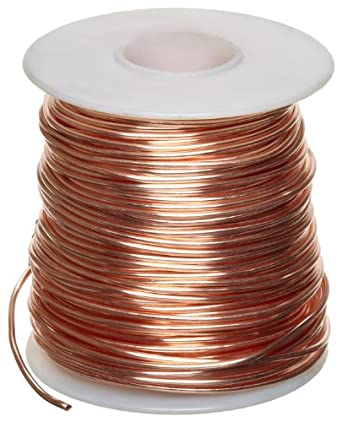 Amazon bare copper wire bright 14 awg 0064 diameter 80 bare copper wire bright 14 awg 0064quot diameter 80 length greentooth