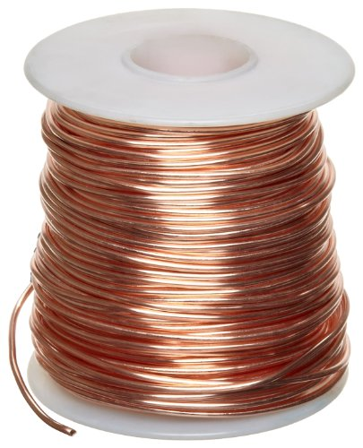 Bare Copper Wire, Bright, 18 AWG, 0.04