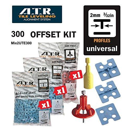 ATR Tile Leveling Alignment System DIY Kit 2mm T Shape Walls & Floors Spacers