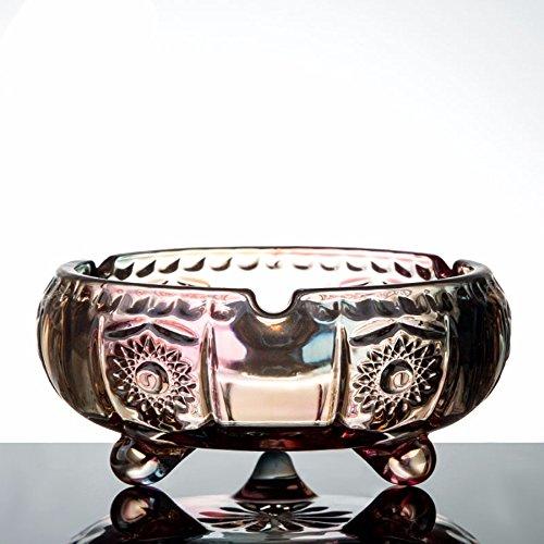 KHSKX-Creative Cenicero De Cristal Simple Y Elegante Salón Muebles De Oficina Personalidad Creativa A Amigos 15*6,5Cm,Un