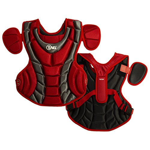 TAG Pro Series Womens Body Protector, Scarlet/Grey ()
