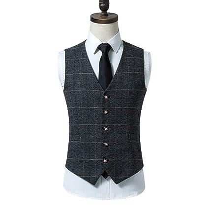 Vest Elegante Traje de Chaleco para Hombre, Chaleco Estilo ...
