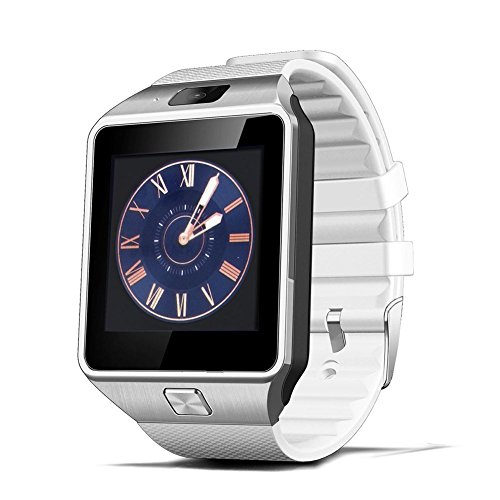 CNPGD [U.S. Office Extended Warranty] Smartwatch + Unlocked Watch Cell Phone All in 1 Bluetooth Watch for iPhone Android Samsung Galaxy Note,Nexus,HTC,Sony White