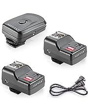 Neewer 16 canales inalámbricos de flash remoto Speedlite, FM Radio de disparo con 2.5mm Receptor PC para unidades de flash con zapata caliente universal