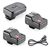 Neewer 16 Channel Wireless Remote FM Flash Speedlite Radio Trigger with 2.5mm PC Receiver for Flash Units with Universal Hot Shoe