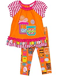 Girls Orange Candy Jars Size 2T-6X Novelty Outfit
