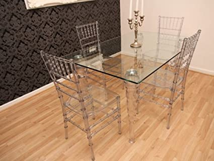 Brilliant Designer Acrylic Dining Room Set Ghost Chair Table Gmtry Best Dining Table And Chair Ideas Images Gmtryco