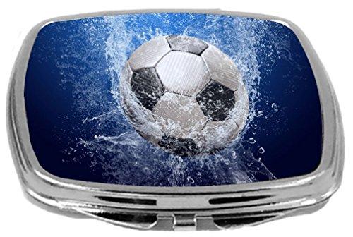 Rikki Knight Compact Mirror, Soccer Ball Splash by Rikki Knight
