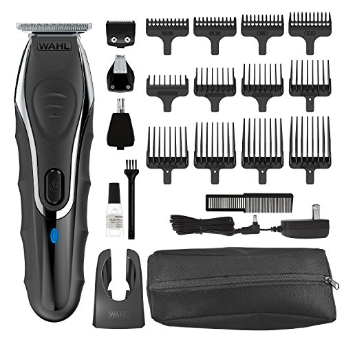 Wahl Clipper Aqua Blade Wet/Dry Beard Trimmer Kit, Lithium Ion All in One Grooming Kit for Beard, Ear, Nose and Body, Waterproof Cordless Rechargeable, By The Brand used by Professionals #9899-100 (Wet Dry Hair Clippers)