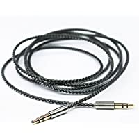 NewFantasia Replacement cable for B&O PLAY by Bang & Olufsen Beoplay H6 / H7 / H8 / H9 / H2 Headphone Silver Plated Copper Audio upgrade HIFI stereo cord Black 1.5m/4.9ft