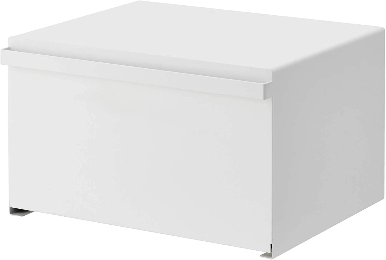 Yamazaki Home Tower bread boxes, One Size, White