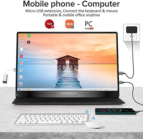 Portable Monitor, Upgraded 15.6 Inch IPS HDR 1920X1080 FHD Eye Care Screen USB C Gaming Monitor, Dual Speaker Computer Display with HD Type-C VESA for Laptop PC MAC Phone Xbox PS4 Include Smart Case 510iC1cFUgL