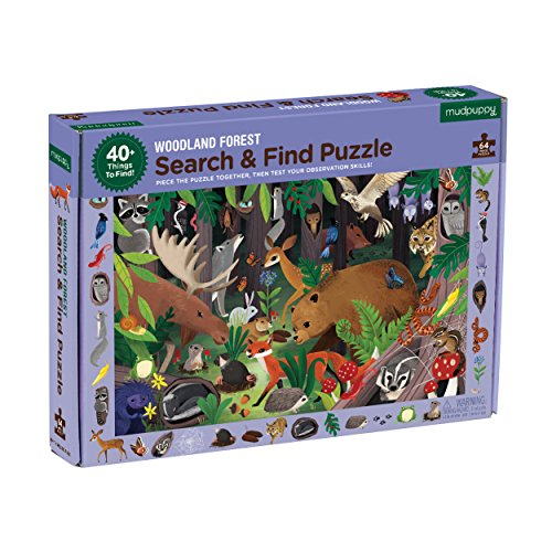 Mudpuppy Woodland Forest Search and Find Puzzle, 64 Pieces, 23