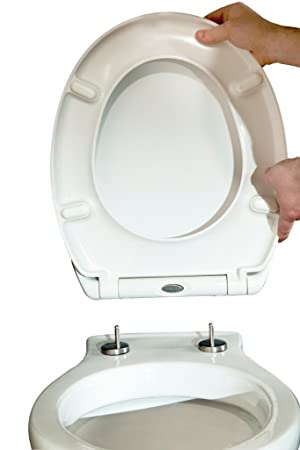 easy home toilet seat. Duroplast Soft Close Toilet Seat  Quick Release Amazon co uk