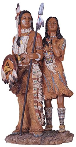 George S. Chen Imports SS-G-11334 Native American Couple Collectible Indian Figurine Sculpture - Native American Home