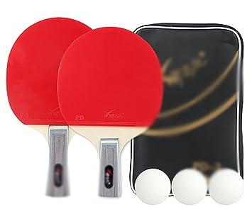 Ping pong padel - 2 juego de raqueta de tenis de mesa pro premium,3 pelotas,Profesional ...