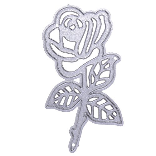 Metal Cutting Dies Rose for Card Making, NOMSOCR Cut Die Metal Stencil Template Mould for DIY Scrapbook Embossing Album Paper Card Craft Birthday Festival Decoration (Rose)]()