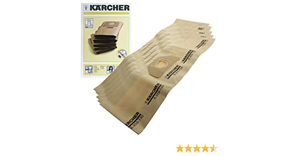Karcher - Bolsas con filtro dual para aspiradora Karcher A2254 ...