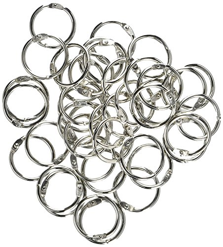 S.P. Richards Company Book Ring, 1-Inch Diameter, 100 per Box, Silver (SPR01436) (4 Pack) by Sparco (Image #2)