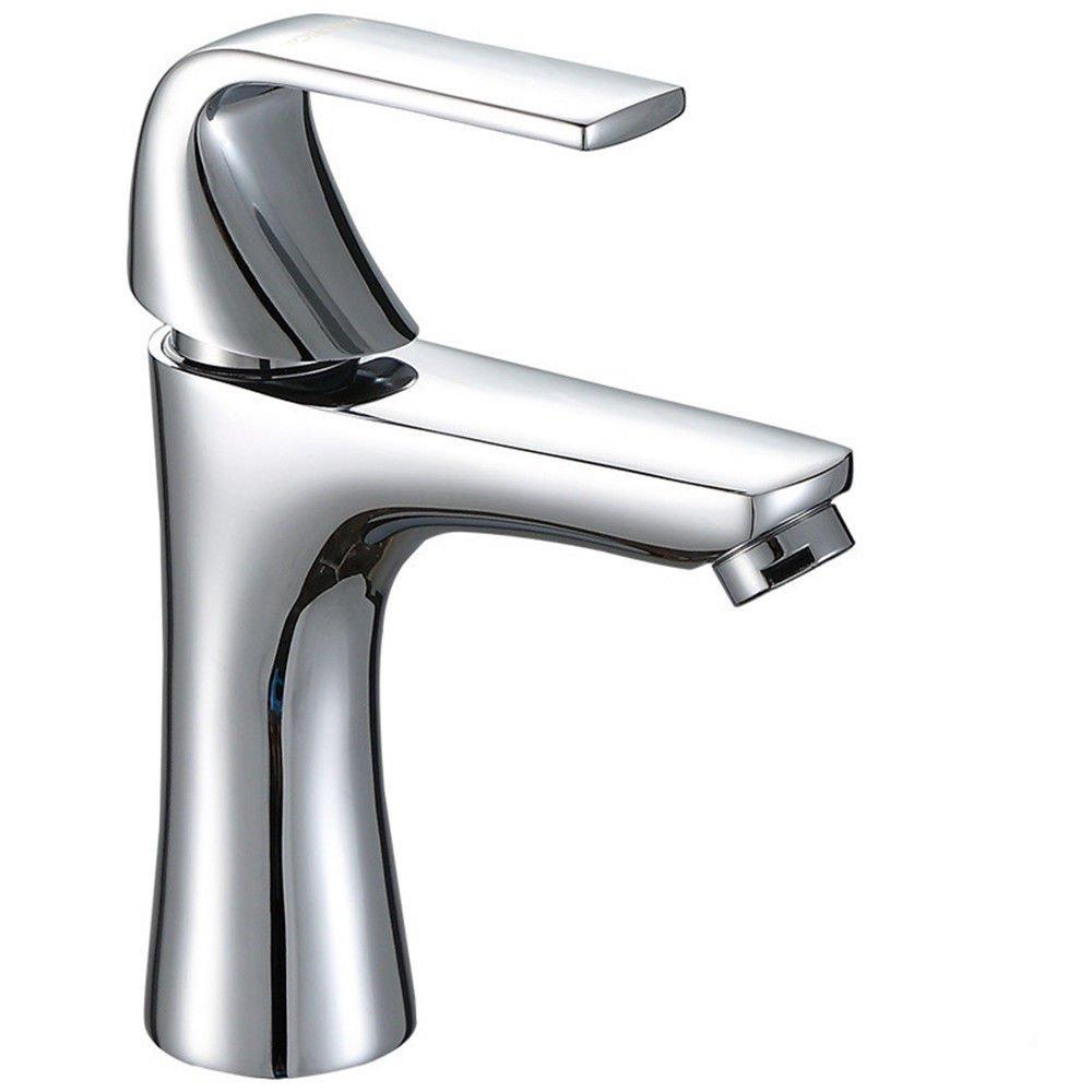 AQiMM Waschtischarmatur Wasserhahn Waschbecken Kupfer Kaltes Wasser Tower Single Griff Einzelne Bohrung Badezimmer Mischbatterie