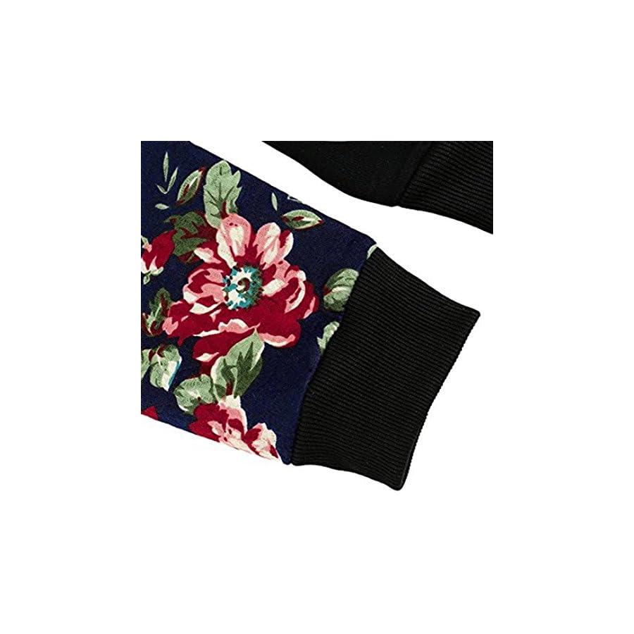 2017 New! Litetao Women Classic Floral Printed Long Sleeve Pocket Pullover Hoodies