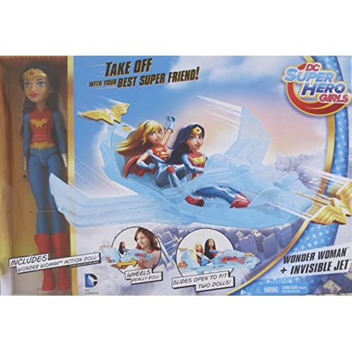 DC Super Hero Girls Wonder Woman Doll /& Invisible Jet Plane playset BRAND NEW