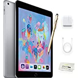 Apple iPad 9.7 inch - 128GB, Wi-Fi, Space Grey + iPad Stylus/Pen Accessory - Latest Apple Tablet, 2018 Model, Compatible w/the Original Apple pencil (NOT INCLUDED)