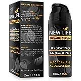 NEW LIFE Bio Organic Face Serum - Deep Hydration Natural Serum, Anti-Wrinkle, Enlarged Pores, Anti Aging, Moisturizing, Vegan, Eye Serum, Natural Skin Care - 50ml by Biomar