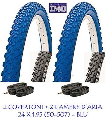 CST 2 neumáticos Azules + 2 cámaras de 24 x 1,95 (50-507) para ...