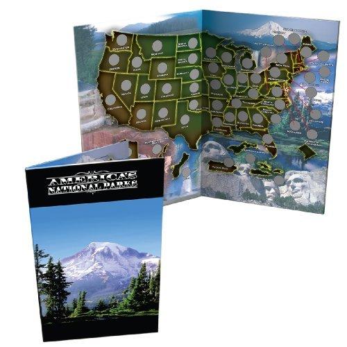 America the Beautiful National Parks Quarter Folder Map