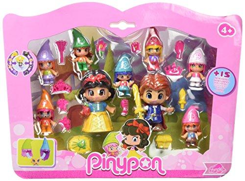 Pinypon Pack de Figuras Blancanieves y Siete enanitos