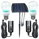 BonAchat Solar Panel DIY Lighting Kit, Solar Home System Kit,LED Light Bulb Flashlight as Emergency Light Lighting System/ Camping Trekking Lighting Kit