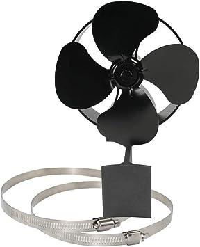 Silencioso ventilador de pared con 4 aspas para estufa, chimenea ...