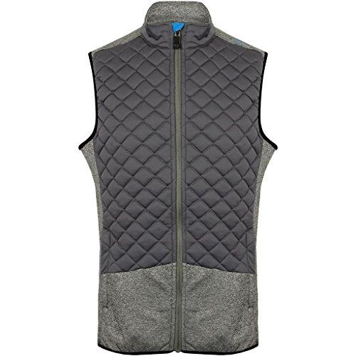 Island Green 2017 Full Zip Lightweight Thermal Padded Gilet Mens Golf Vest Charcoal ()