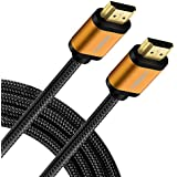 High Speed HDMI Cable- UHD HDMI Cord, FIRBELY 4K 60Hz 18Gbps, Nylon Braided, Gold Plated Connectors,Support Fire TV, Ethernet, Audio Return, Video 4K UHD 2160p, HD 1080p, 3D, Xbox Playstation 10 feet