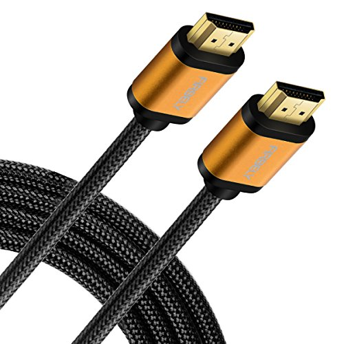 10' Hdmi Gold Video Cable - High Speed HDMI Cable- UHD HDMI CORD, FIRBELY 4K 60Hz 18Gbps, Nylon Braided, Gold Plated Connectors,Support Fire TV, Ethernet, Audio Return, Video 4K UHD 2160p, HD 1080p, 3D, Xbox PlayStation 10 feet