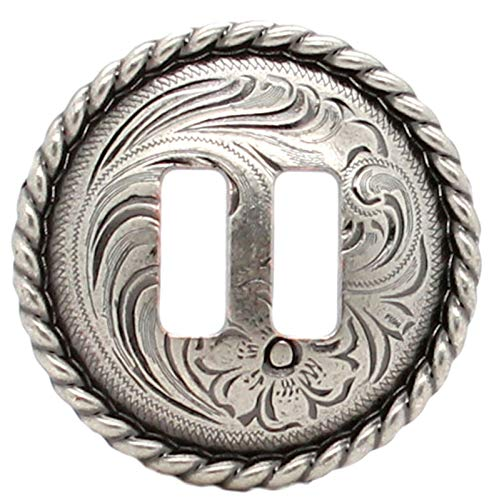 ShopForAllYou Leathercraft Accessories Antique Nickel Slotted Rope Edge Concho 1-1/2