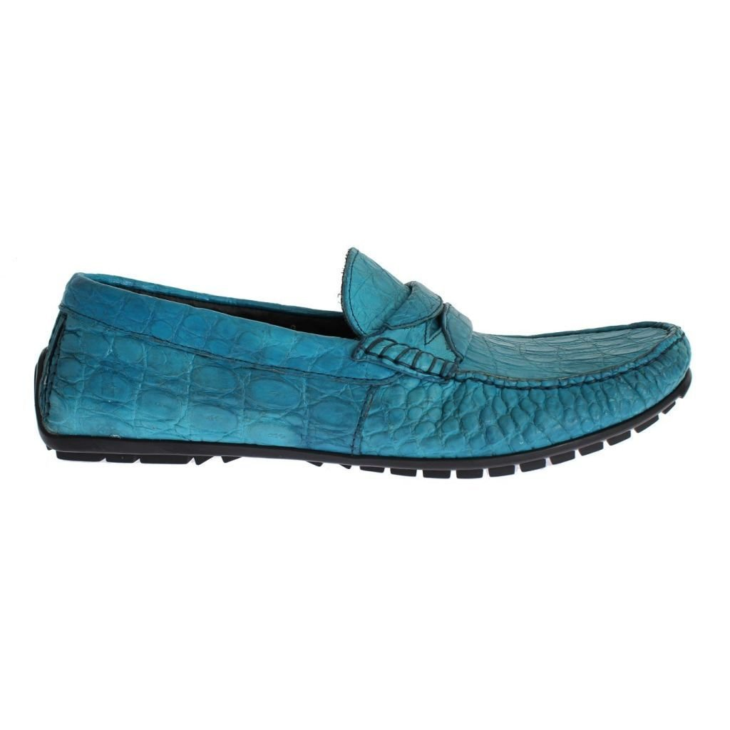 c13b21d4d722 Dolce   Gabbana Blue Crocodile Mens Loafers Slip Ons Shoes  Amazon.co.uk   Clothing