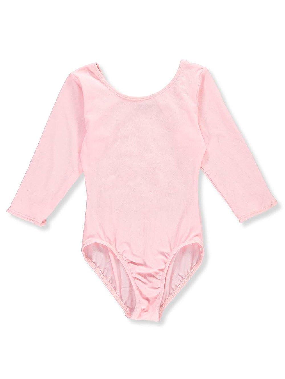 Jacques Moret Girls Dance 3//4 Sleeve Basic Leotard Bodysuit