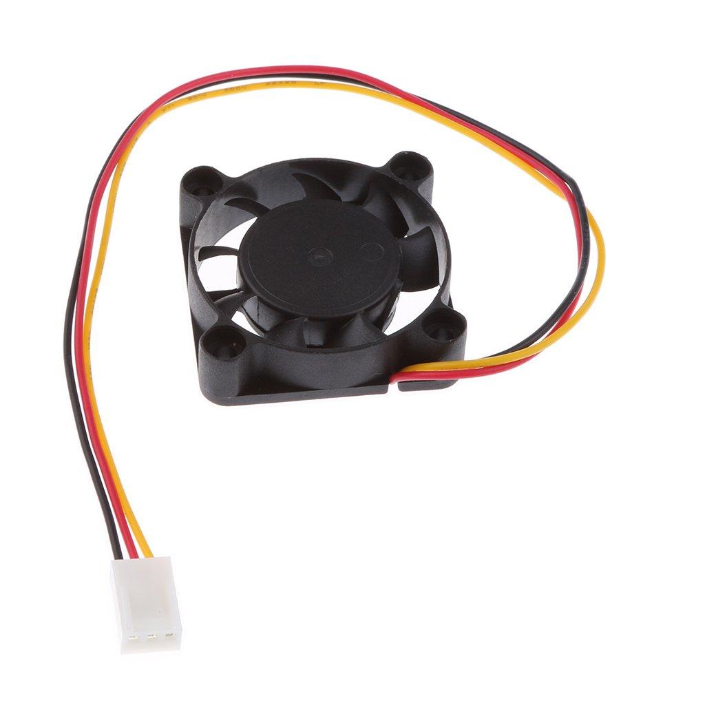 Sharplace Leiser Lü fter 12V 0, 12A Flü sterleise Kü hlerlü fter 35mmx35mmx10mm Kü hlgeblä se fü r 3D-Printer Teile -Schwarz